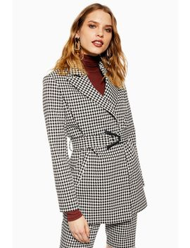 Houndstooth Jacket by Topshop