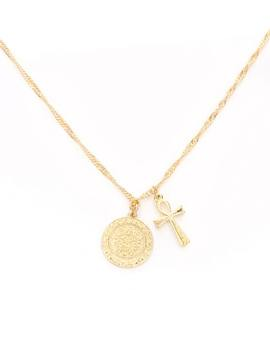 Cross Coin Necklace by Glassons