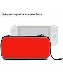 Ad Vcer Nintendo Switch Carrying Case, Eva Waterproof Hard Shield Protective Travel Storage Case With Wrist Strap And Double Zipper For Nintendo Switch With Joy Con Controller And 8 Game Card (Red) by Ad Vcer