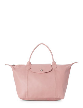 Pink Le Pliage Cuir Small Satchel by Century 21