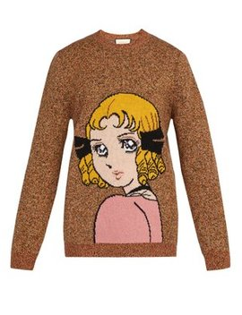Viva! Volleyball Intarsia Wool Sweater by Gucci