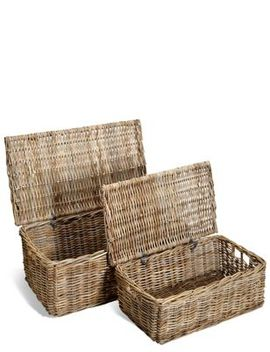 Kubu Rattan Set Of 2 Trunks by Marks & Spencer