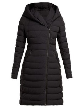 Barge Asymmetric Zip Quilted Down Filled Coat by Moncler