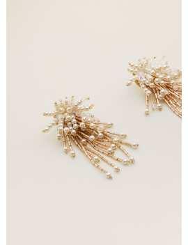 Pendientes Cristal Perlas by Mango