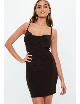 Brown Slinky Cowl Mini Dress by Missguided