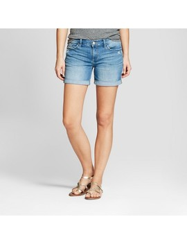 Women's Mid Rise Roll Cuff Jean Shorts   Crafted By Lee Light Wash by Crafted By Lee