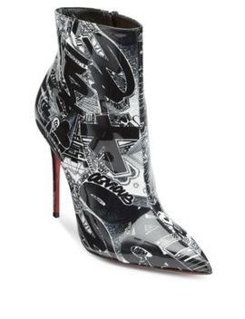 So Kate 100 Printed Patent Leather Booties by Christian Louboutin