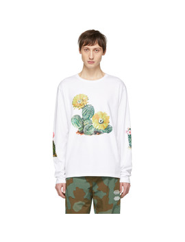 White Cactus Long Sleeve T Shirt by Bianca Chandon