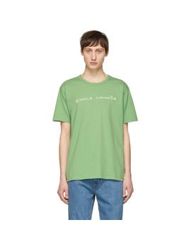 Green Handwritten Logotype T Shirt by Bianca Chandon