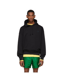 Black Oversized Farrin Face Hoodie by Acne Studios