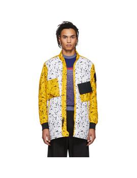 White & Yellow Errolson Hugh Edition Acg Insulated Coat by Nike Acg