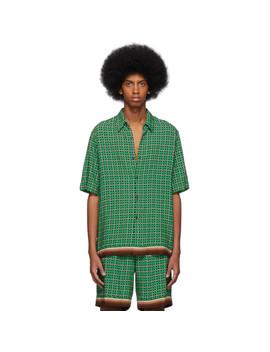 Green Geometric Classen Shirt by Dries Van Noten