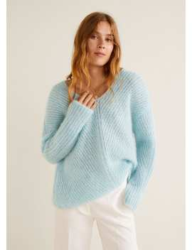 Pullover Mohair A Coste by Mango