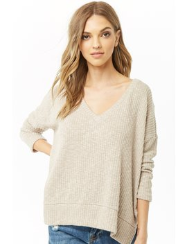 Ribbed Scoop Neck Top by Forever 21