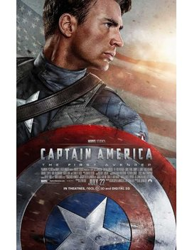 Captain America: The First Avenger 27 X 40 Movie Poster   Style B by Pop Culture Graphics