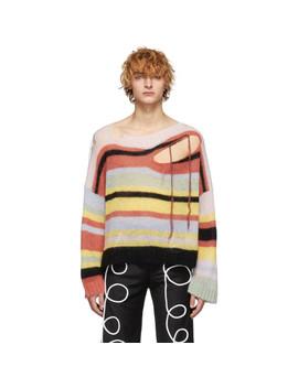 Multicolor Stripe Slash Sweater by Charles Jeffrey Loverboy