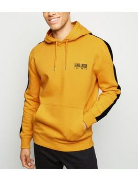 Yellow San Francisco Embroidered Hoodie by New Look