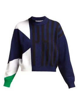 Logo Jacquard Cropped Sweater by Proenza Schouler Pswl