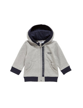 Kids' Zip Through Sweatshirt In Cotton Fleece by Boss