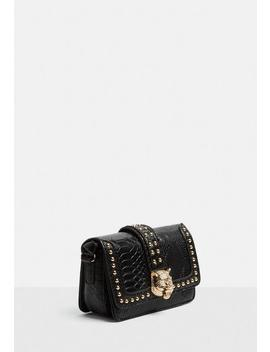 Black Lion Head Cross Body Bag by Missguided