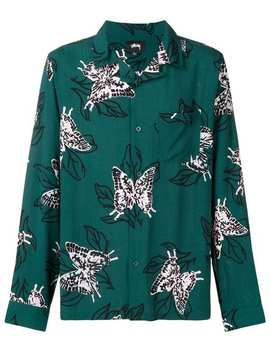 Butterfly Print Shirt by Stussy