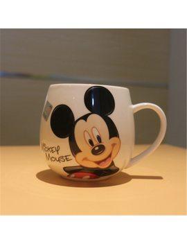 Cute Cartoon Mug Mickey Minnie Ceramic Cups Milk 320ml Creative Fashion Couples Mug Coffee Breakfast Water Cup Drop Shipping by Ulknn