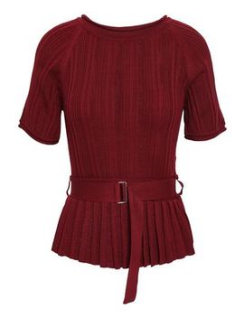 Ribbed Silk And Cotton Blend Peplum Top by 3.1 Phillip Lim