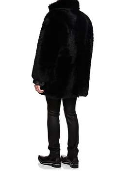 Leather Trimmed Shearling Coat by Givenchy