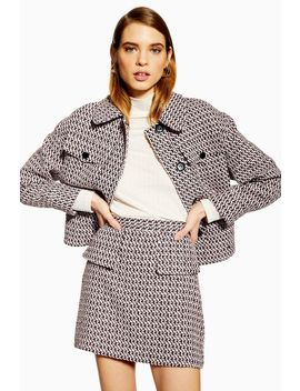 Textured Boucle Suit by Topshop