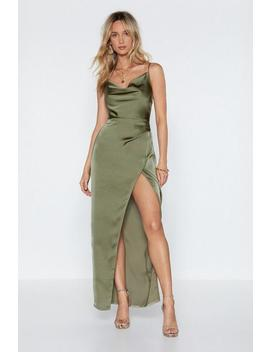 Cowl Play Satin Maxi Dress by Nasty Gal