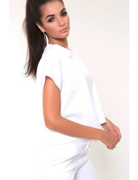 White Cropped Ponte T Shirt by I Saw It First