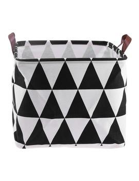 black-and-white-storage-box-for-toys-cotton-linen-desktop-storage-organizer-sundries-cabinet-folding-storage-basket-laundry-bask by sangemama