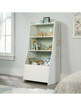 Pinwheel Bin Bookcase Soft White   Sauder by Shop This Collection