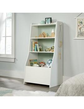 Pinwheel Bin Bookcase Soft White   Sauder by Shop This Collection