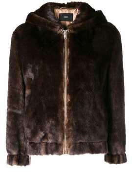 Faux Fur Hooded Jacket by Steffen Schraut