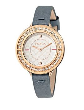 Club White Dial Calfskin Leather Watch by Furla