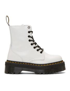 White Jadon Retro Quad Boots by Dr. Martens