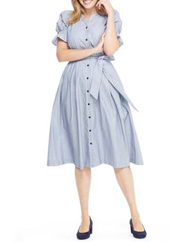 Daisy Cotton Dobby Shirtdress by Gal Meets Glam Collection