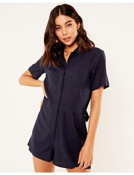 Linen Blend Boilersuit by Glassons