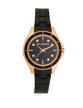 Jan Rose Goldtone Stainless Steel Bracelet Watch by Karl Lagerfeld