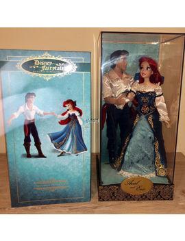 Disney Store Designer Doll Fairytale Couple  Ariel & Eric Set Le & Bag by Disney Store