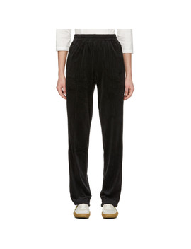 Black Torch Velour Lounge Pants by Opening Ceremony