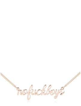 No F*Ck Boys Necklace by Skinnydip