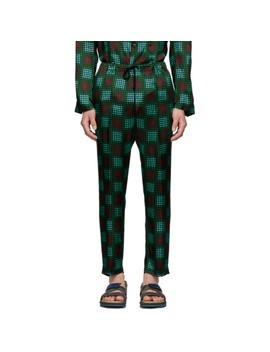 Green Perkino Trousers by Dries Van Noten
