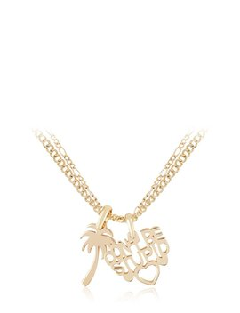 Gold Don't Be Stupid Necklace by Skinnydip