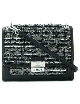 K/Kuilted Tweed Hand Bag by Karl Lagerfeld
