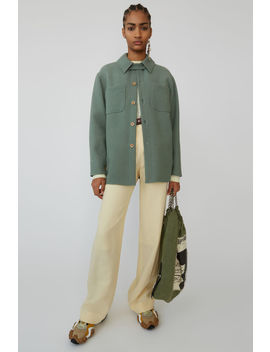 Flannel Shirt Dusty Green by Acne Studios