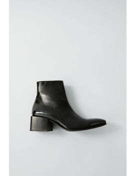 Patent Ankle Boots Black by Acne Studios