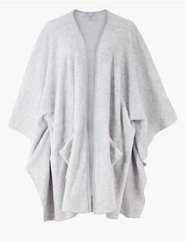 Fleece Wrap Dressing Gown by Marks & Spencer
