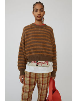 Striped Sweater Brown/Tobacco by Acne Studios